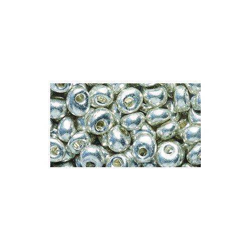 Beads Metallic 25 (Miyuki Magatama Seed Bead, 4mm, Galvanized Metallic Silver Drop, 25-Gram/Pack)