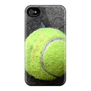 Slim Fit Tpu Protector Shock Absorbent Bumper Tennis Ball Case For Iphone 4/4s