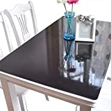 plastic tabletop cover - OstepDecor Black Plastic Table Top Protector Tablecloth Cover PVC Desk Pad Mat 30 x 60 Inches