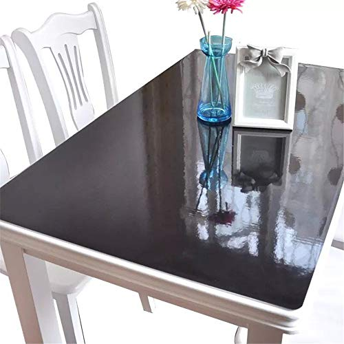 OstepDecor Black Plastic Table Top Protector Tablecloth Cover PVC Desk Pad Mat 30 x 48 Inches