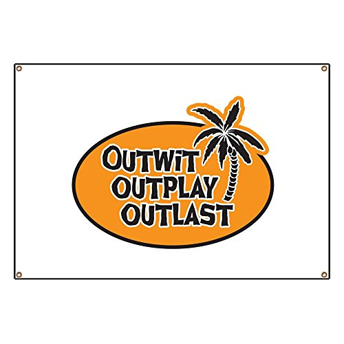 CafePress Outwit Outplay Outlast Vinyl Banner, 44