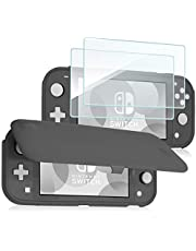 ProCase Nintendo Switch Lite Flip Cover with 2 Pack Tempered Glass Screen Protectors, Slim Protective Flip Case with Magnetically Detachable Front Cover for Nintendo Switch Lite 2019 -Grey