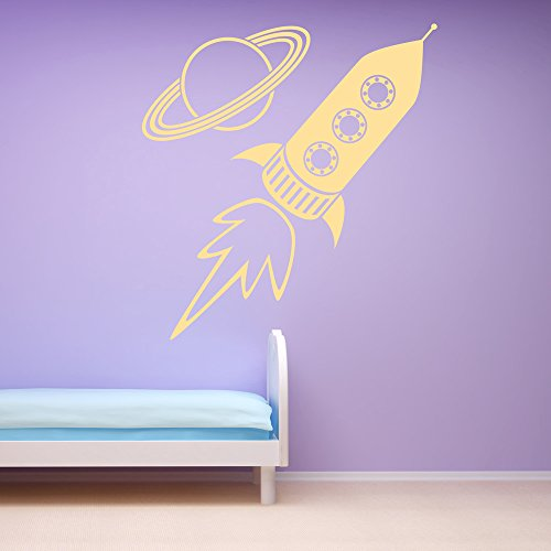 Rocket & Planet Childrens Planets And Space Wall Sticker ...