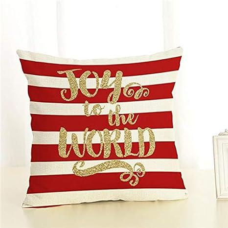 Amazon.com: Funda de almohada de lino de feliz Navidad para ...
