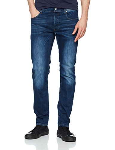 Azul Medium STAR 071 Slim G Hombre RAW Vaqueros Aged para YZ1qF
