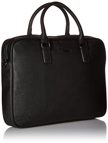 Armani Exchange Men's Saffiano Embossed Briefcase, Black by A|X Armani Exchange (Image #2)