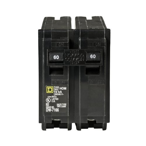 Your One Source HOM260CP 60-Amp 2-Pole Plug-On Circuit Breaker, Model: HOM260CP