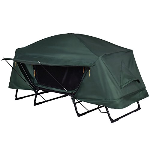 Tangkula Tent Cot Folding Waterproof 1 Person Hiking Camping Tent with Carry Bag by Tangkula (Image #4)