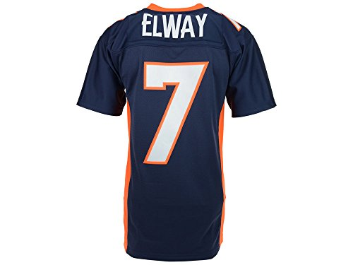 Denver Broncos John Elway Premier Throwback Mitchell Ness Replica Navy Jersey (Large)