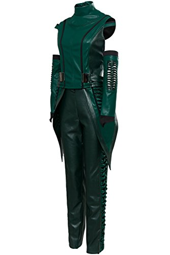 Mesodyn Women's Mantis Cosplay Costume Leather Full Set Suit Medium Green -