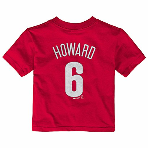 Phillies Mlb Player (Majestic Athletic Ryan Howard Philadelphia Phillies MLB Red Player Name & Number Jersey T-Shirt for Infant (18M))