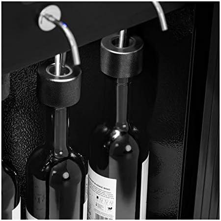 Royal Catering Nevera Para Vinos Refrigerador Vinoteca RC-WDB4 (Potencia: 120 W, Con dispensador, Para 4 botellas, Acero, vidrio y plástico)