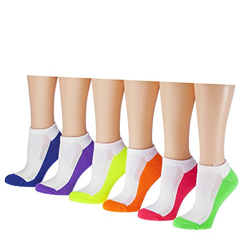 Tipi Toe Women's 6-Pairs Low Cut/No Show Athletic SPort Socks SP21-6