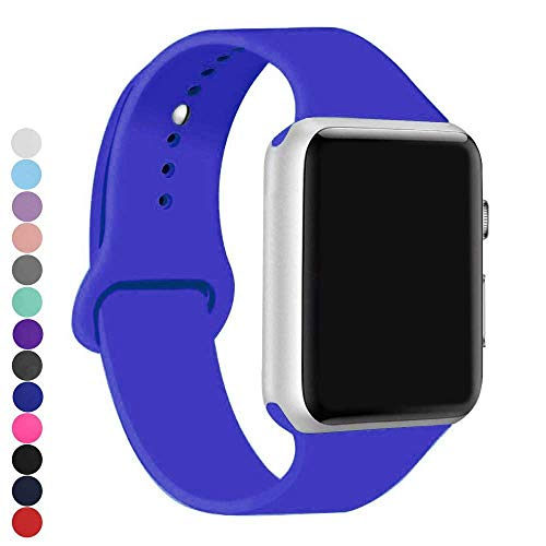 (a8Miss Sport Band Compatible for Apple Watch 38mm 42mm Series 1, Series 2,Series 3 or 40mm 44mm Series 4(38mm(40mm) S/M,Royal Blue))