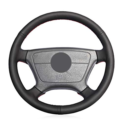 MEWANT Black Microfiber Leather Steering Wheel Cover for sale  Delivered anywhere in USA