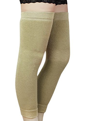 Hombres Mujeres Thicken largos elástico rodilla manga calentadores de piernas Invierno transpirable térmica rodilla Brace...