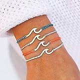 Pura Vida Silver Hammered Wave Bracelet