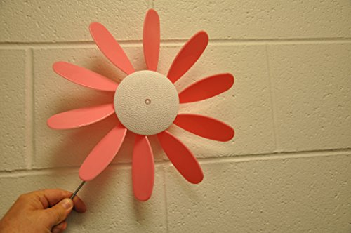 Breast Daisies (Classic Spinning Daisy (x6 case) BREAST CANCER AWARENESS 12 inch dia)