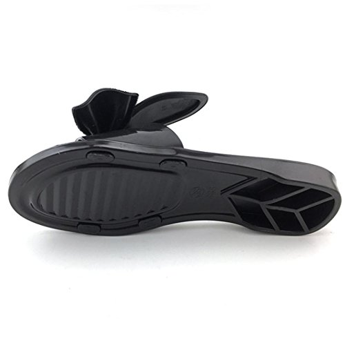 Damen Zehentrenner, Yogogo Strandschuhe Damen Hausschuhe Flat Heels Flip Flops Sandalen Schwarz