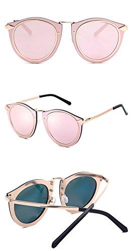 Bord Femmes des de soleil pink pour vintage doré Designer route vacances Lunettes Hommes Voyages DESESHENME Lens Sunglass pour fHWIqn6RB