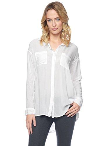 Splendid Womens Fold-Back Tunic, S, White