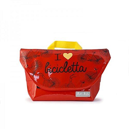 "Lenker-Fahrradtasche ""I love Bicicletta"" in rot, original That´s Italia Kollektion"