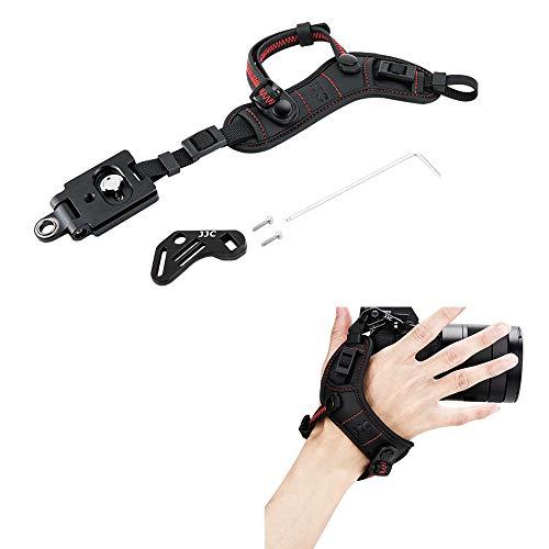 JJC Deluxe Mirrorless Camera Hand Strap Wrist Strap for Fujifilm Fuji X-T3 X-T2 X-T1 X-T30 X-T20 X-T10 X-H1 X-PRO2 X-E3 X-E2S Canon EOS R RP Nikon Z7 Z6 Olympus OM-D E-M10 E-M5 Mark III II & More