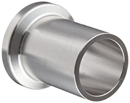 Dixon L14AM7-R1000 Stainless Steel 316L Sanitary Fitting, Long Weld Clamp Ferrule, 10\
