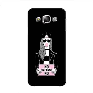 Cover It Up - No Means No Galaxy E7 Hard Case