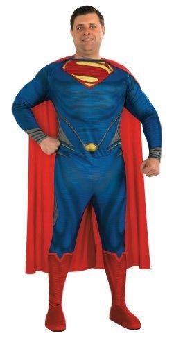 Superman Man of Steel Adult Costume Plus Size Fancy Dress by Rubies