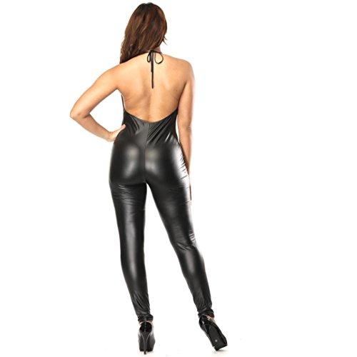 97fae9ffd7 Nuevo Bodysuit de cuero artificial