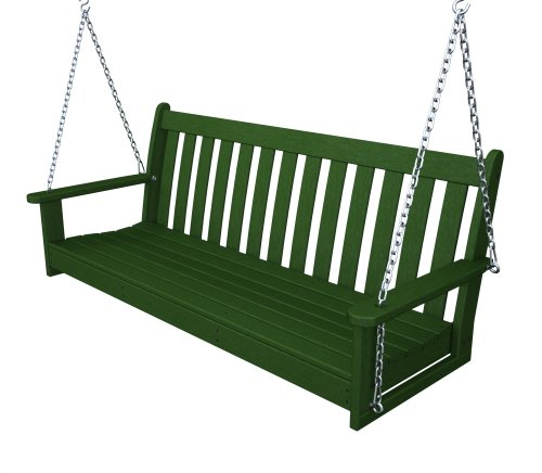 Recycled Plastic 60'' Swing (Includes Chain Kit) by Polywood Frame Color: Hunter Green by Poly-Wood Adirondack