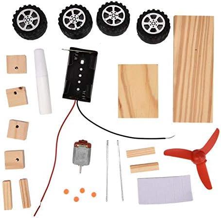 DIY windenergie automodel mini motor slimme robot auto interessant speelgoed windenergie auto speelgoed voor alle leeftijden