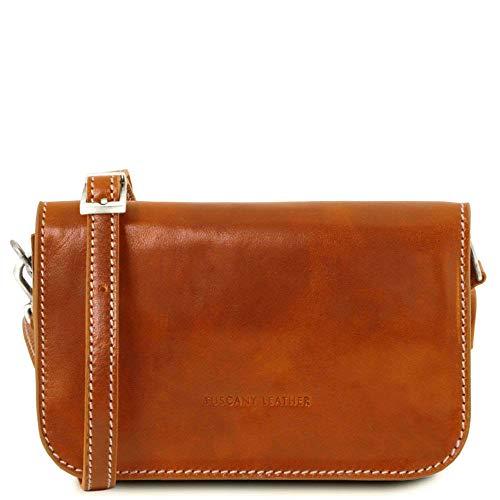 Tuscany Leather Tl141713, Sac à bandoulière compact pour femme beige