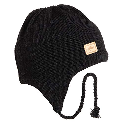 Turtle Fur Men's Solid Classic Wool Ski Hat Earflap, Black, Regular ()