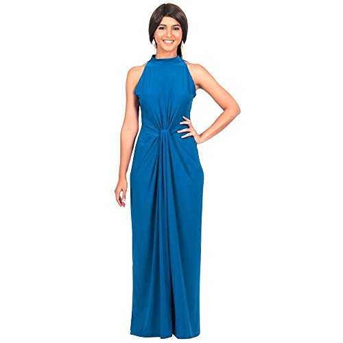 Coper Sexy Fashion Women Sleeveless Full Party Blue Dress Cocktail Bodycon Women's For wZaptqExw