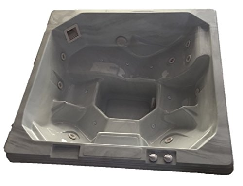 Spillway Spas, NS-301, 4-5 Person, 12 Jet In Ground Acrylic Non-Spill Spa, 78 x 78 x 32 (Sterling Marble White) by Spillway Spas