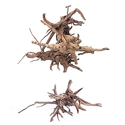 LAYs Aquarium Driftwood Wood Trunk Plant Stump for Fish Tank Ornament Landscaping by LAYs