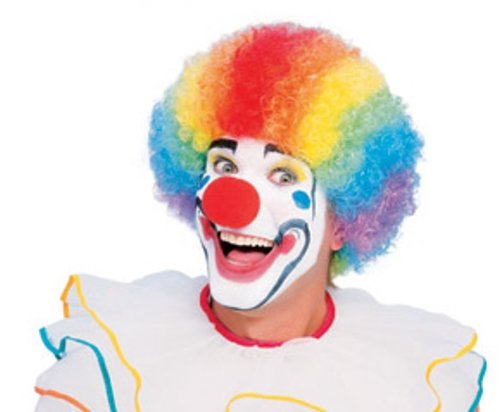 Rubie's Costume Humor Value Clown Wig, Rainbow, One (Adult Clown Wig)