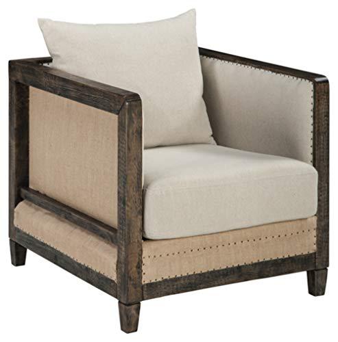 Ashley Furniture Signature Design Copeland Accent Chair - Casual Style - Linen - Black Nailhead Trim (Copeland Furniture)