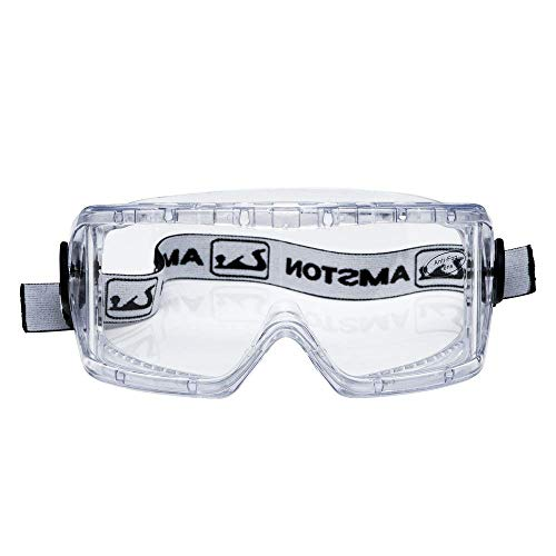 Amston Safety Goggles - ANSI Z87.1 & OSHA Compliant - Protective Eyewear for Construction, DIY, Lab & Home (Painters Goggles)