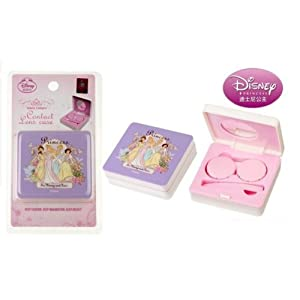 Disney Princess Collection Contact Lens Case Box Holder Square Compact (Disney Princesses) by StylesILove.com