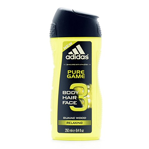 Adidas Pure Game 3 in 1 Gel de Ducha, 250 ml, 1 unidad 31535451000