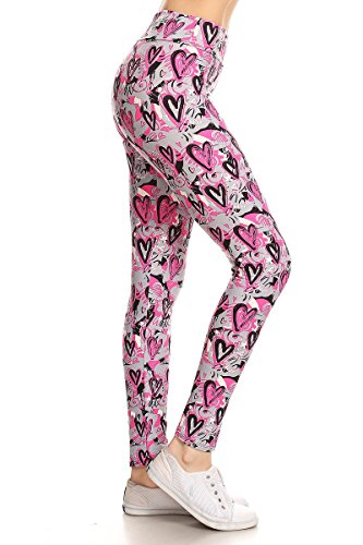Leggings Depot YOGA Waist REG/PLUS Women's Buttery Soft Workout Gym Leggings (Plus Size (Size 12-24), Mon Cheri)