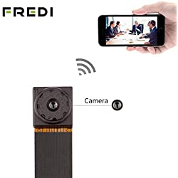 FREDI Super small 720P Mini Hidden Spy Camera Motion Detection Loop Recording WiFi Indoor Security Surveillance Cameras