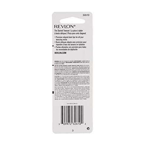 Revlon Multipurpose Slant Tip Tweezer, Eyebrow and Ingrown Hair Removal Makeup Tool, Made with Stainless Steel