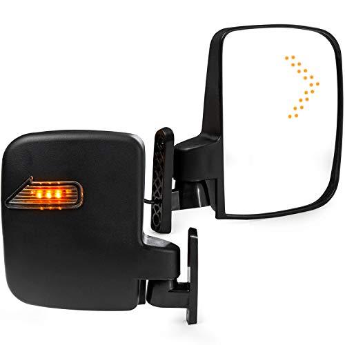 - KapscoMoto 2X Universal Golf Cart Side Mirrors w/LED Turn Signal Indicators for EZGO, Club Car, Yamaha and Other Golf Cart Models
