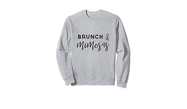 Brunch And Bottomless Mimosas Slouchy Off Shoulder Oversized Sweatshirt