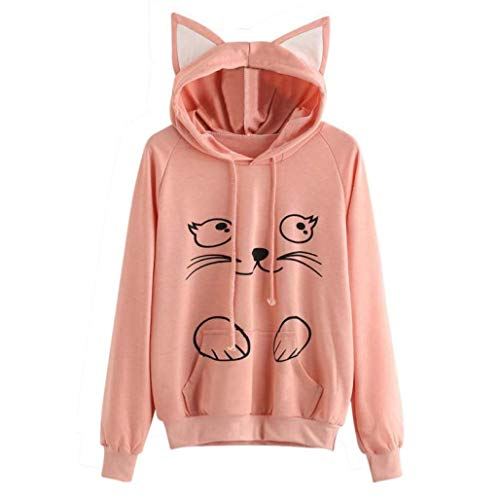 Ringer Kids Fish T-shirt (Sweatshirt,Toimoth Womens Cat Long Sleeve Hoodie Sweatshirt Hooded Pullover Tops Blouse (Orange L))