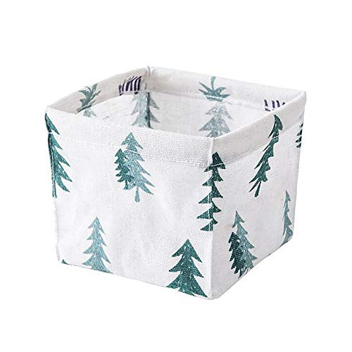(Home Supplies Storage Bin Closet Toy Box Container Organizer Fabric Small Basket (Green))